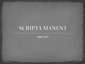 SCRIPTA MANENT - Francesco Caruso