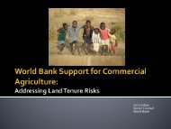 Customary Tenure and Commercial Agriculture - World Bank ...