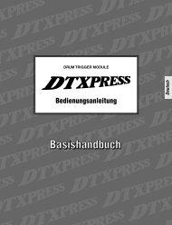 Die DTXPRESS Schnellanleitung (Liste der ... - Yamaha