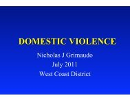 Dr. Grimaudo - Domestic Violence - West Coast Dental Association