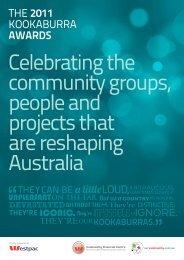 THE 2011 KOOKABURRA AWARDS - Our Community