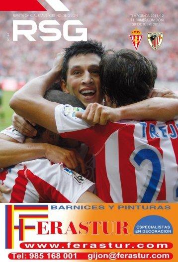 revista oficial real sporting de gijón temporada 2011/12 j11 primera ...