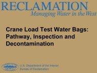 Crane Load Test Water Bags - Aquatic Nuisance Species Task Force