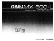MX-600 - Yamaha