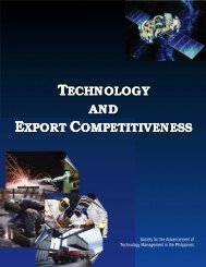 Technology Management for Exporters - Philippine Institute for ...