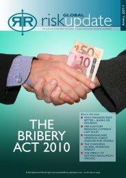 THE BRIBERY ACT 2010 - Risk Reward