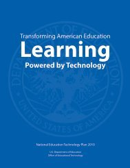 Transforming American Education: Learning Powered by Technology