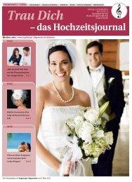 Trau Dich – das Hochzeitsjournal - Augsburger Allgemeine