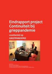 Eindrapport project Continuïteit bij grieppandemie - Nationaal ...