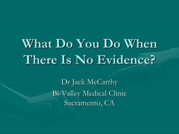 What Do You Do When There Is No Evidence?