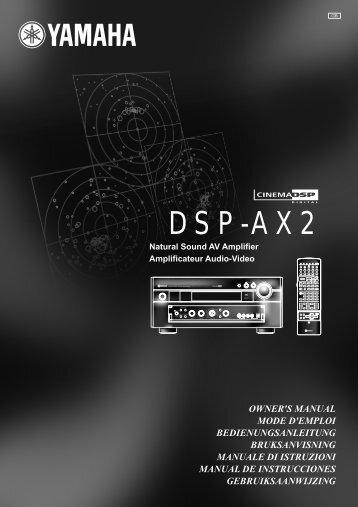 DSP-AX2 - Yamaha