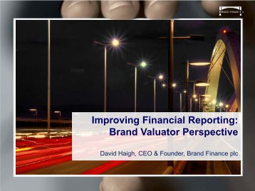 Improving Financial Reporting: Brand Valuator Perspective - MASB