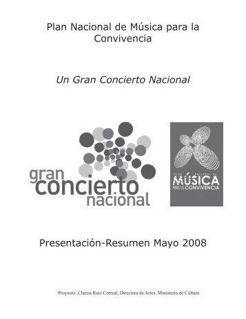 Resumen Mayo 2008 - Gran Concierto Nacional 2010 - Ministerio ...
