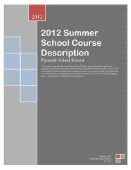 2012 Summer School Course Description - Plymouth School District