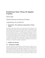Evolutionary Game Theory for linguists. A primer