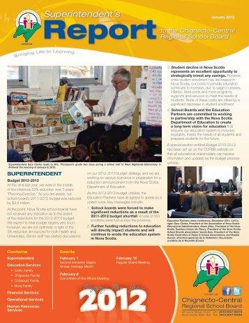 Report - Chignecto-Central Regional School Board