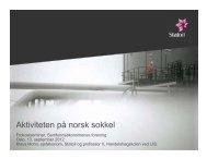 Aktiviteten på norsk sokkel – Klaus Mohn - Samfunnsøkonomene