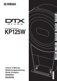 KP125W Owner's Manual