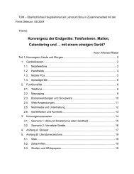 Konvergenz der Endgeräte - Software and Systems Engineering ...