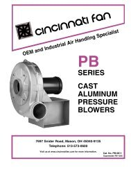 SERIES CAST ALUMINUM PRESSURE BLOWERS - Cincinnati Fan