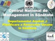 Prezentare DAPRUS - Centrul Naţional de Management în Sănătate