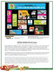 MyPlate Bulletin Board Lesson - Learning Zone Express