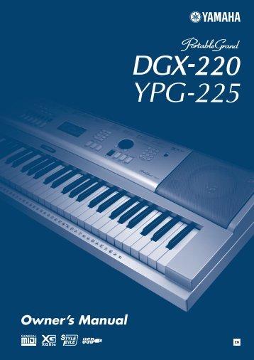 dgx 230 ypg 235 owner s manual zzounds com rh yumpu com Used Yamaha Piano Keyboards Used Yamaha Piano Keyboards