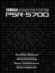 Spielen auf dem PSR-5700 - Yamaha