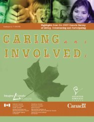 2007 Survey of Giving, Volunteering and ... - Imagine Canada