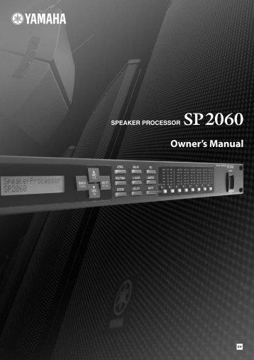SP2060 Ownerユs Manual - Yamaha
