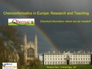 Chemoinformatics in Europe: Research and Teaching