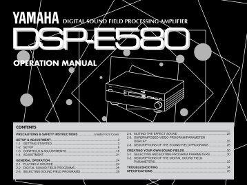OPERATION MANUAL - Yamaha