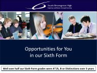 Sixth Form Options Information 2013 - South Bromsgrove High ...