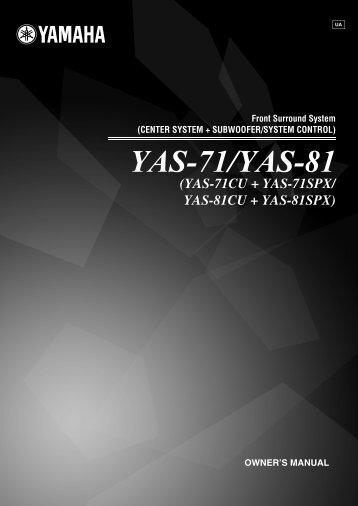YAS-71/YAS-81 - Yamaha