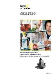 Labor-Sicherheitsventil VALE Safety valve for laboratories ... - Gasotec