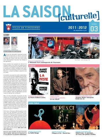 Saison culturelle 2011/2012, Journal n°3 (pdf - Ville de Vincennes