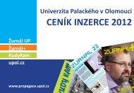 Ceník inzerce ke stažení - Univerzita Palackého v Olomouci
