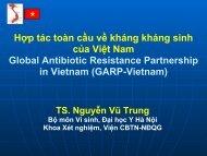 Hợp tác toàn cầu về kháng kháng sinh của Việt Nam