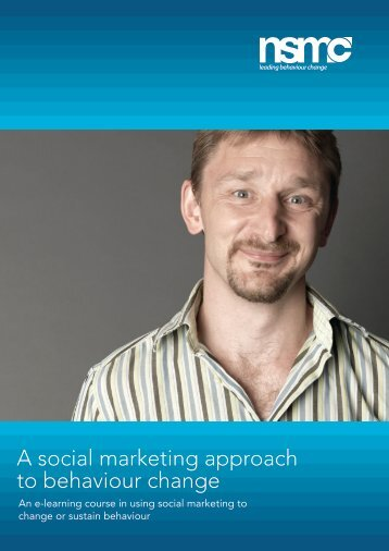 e-learning course brochure - National Social Marketing Centre