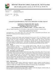 MĚSTSKÝ ÚŘAD NOVÁ ROLE, Chodovská 236, 362 25 Nová Role ...