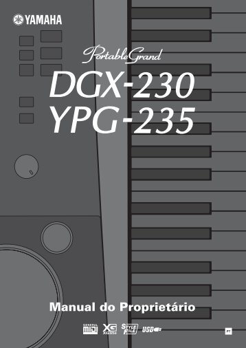 DGX-230/YPG-235 Owner's Manual