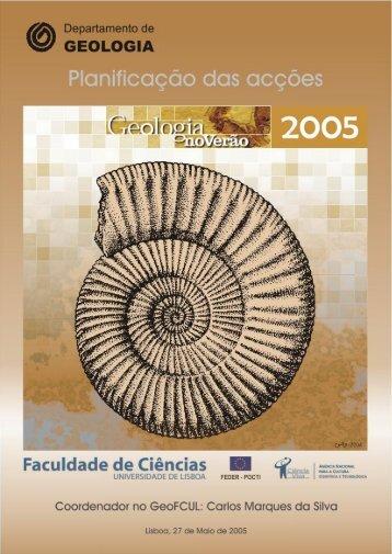 Geologia no Verão 2005 - Projectos - Universidade de Lisboa