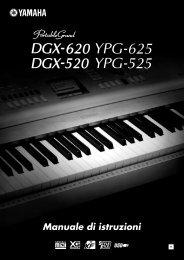 Manuale di istruzioni - Yamaha