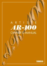 AR-100 Owner's Manual - Yamaha