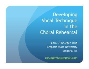 Vocal Techniques (1 slide per page) - Presbyterian Association of ...