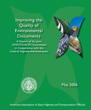 Improving the Quality of Environmental Documents - Center for ...