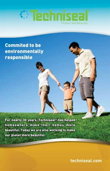 Commited to be environmentally responsible - Techniseal