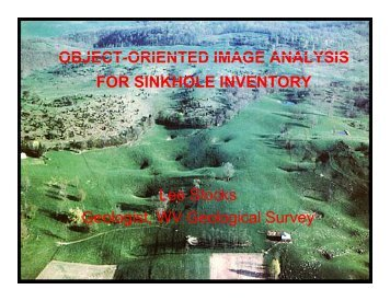 Image-Object Analysis for Sinkhole Inventory