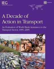 A Decade of Action in Transport - ISBN: 0821370030 - World Bank