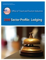 Lodging - Tourism Industries - Department of Commerce